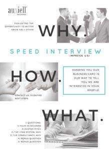 Speed interview